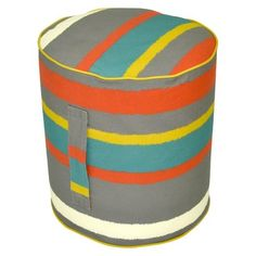 Target : Threshold™ Outdoor Round Pouf Footstool - Paper Stripe Warm : Image Zoom