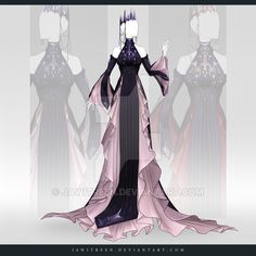 (CLOSED) Adoptable Outfit Auction 266 by JawitReen. on - Fashion Design Dress Drawing, Drawing Clothes, Outfit Drawings, Fashion Design Drawings, Fashion Sketches, Fashion Mode, Fashion Art, Fashion Outfits, Anime Outfits