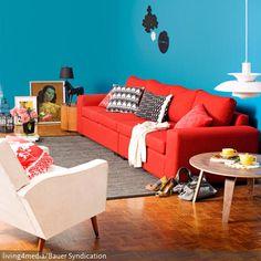 Das Rote Sofa Einrichtungstipps Rotes Sofa | Wohnzimmer Rot ... Wohnzimmer Ideen Rote Couch