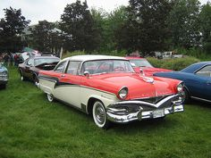 1956 Meteor Rideau. Pierre, the impish French Canadian, drew a mustache on a Crown Victoria!