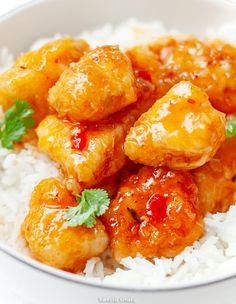 Kokosowy kurczak w słodkim sosie chili Wok, Potato Salad, Potatoes, Lunch, Meat, Ethnic Recipes, Chili, Dinners, Instagram