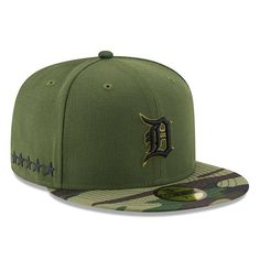 16c0a469f37 Detroit Tigers New Era 2017 Memorial Day 59FIFTY Fitted Hat - Green