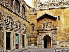 Capilla Real located in Granada, Spain. This is where the tombs of King Ferdinand and Queen Isabella are located.