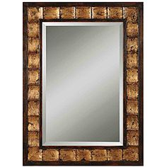 Justus Distressed Mahogany Wood Framed Mirror   Overstock.com Shopping - Great Deals on Mirrors