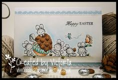 Vixx Handmade Cards: LILI OF THE VALLEY ~ HOPPY EASTER...!