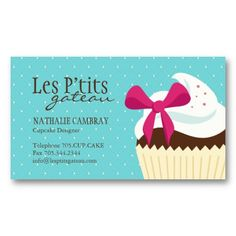 Cupcake bakery business cards bakery business cards pinterest cupcake bakery business card reheart Images