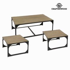 Set 3 metal coffee tables toronto - Thunder Collection by Craftenwood