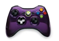 Xbox 360 Special Edition Chrome Series Purple and Black Wireless Controllers