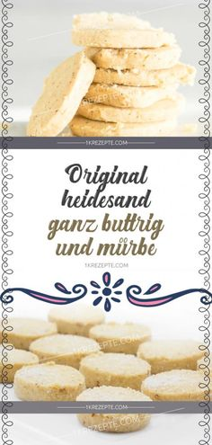 Original Heidesand – ganz buttrig und mürbe – Rezepte Original Heidesand – quite buttery and crunchy – recipes Cake Calories, Recipe Search, Sweet Bread, Food To Make, Bakery, Food And Drink, Sweets, Cookies, The Originals