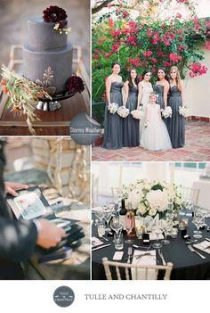 Gray Wedding Colors, Fall Wedding Flowers, Wedding Color Schemes, Elegant Wedding, Perfect Wedding, Dream Wedding, Wedding Day, Wedding Pics, Wedding Styles
