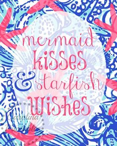 Mermaid Kisses and Starfish Wishes Lilly by CarolinaPrintables