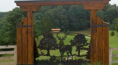 JDR Metal Art makes it easy for you to get a spectacular custom driveway gate made for your beautiful home, farm, ranch or estate. Farm Entrance, Driveway Entrance, House Entrance, Tor Design, Gate Design, Front Gates, Entrance Gates, Metal Tree Wall Art, Metal Art