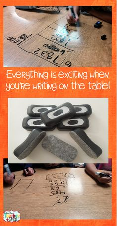 A Simple Way to Make Learning FUN: Writing on the table!