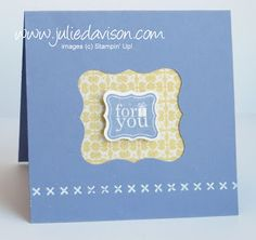 Julie's Stamping Spot -- Stampin' Up! Project Ideas Posted Daily: VIDEO: Faux Stitching with Embossing Folders