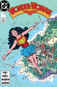 the cover to Wonder Woman (1987) #36 by Chris Marrinan and George Perez