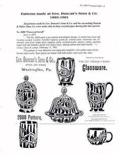 Duncan's EAPG Patterns Catalog Advertisement Reprints | eBay