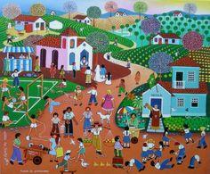 Naif Brazilian Painting by Miltão dos Santos