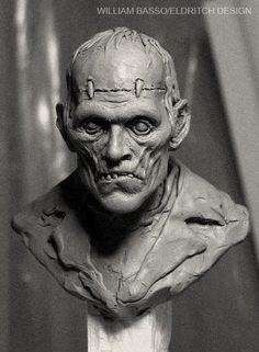 Frankenstein's Monster sculpture