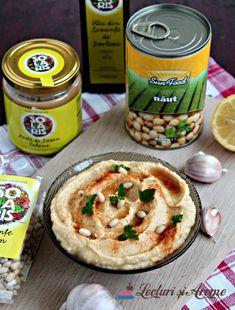 hummus conopidă ingrediente Vegetable Recipes, Vegetarian Recipes, Dips, Tasty, Yummy Food, Hummus Recipe, Tahini, New Recipes, Healthy Life