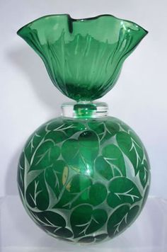 Green Philodendron Perfume Bottle