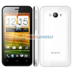 => ZOPO ZP600+ MTK6582 1.3GHz Quad Core Android 4.2.2 3G Smartphone Wi-Fi GPS 1G RAM 4.3 Inch QHD Capacitive Touch Screen(White) - SmartPhone