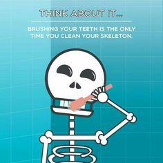 #brushing #teeth #skeleton #dentistry
