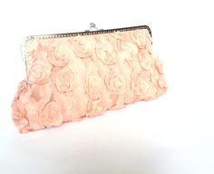 Lace   clutch retro design   Salmon sateen purse by HirasuCraft, $65.00
