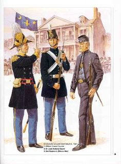 Missouri Confederates from the Emmett Guard, a largely Irish regiment. The soldier in grey is a Minuteman, originally raised to fight off encroaching abolitionist guerrillas of the type led by John Brown Confederate Blue and Yankee Grey - History Forum ~ All Empires - Page 2