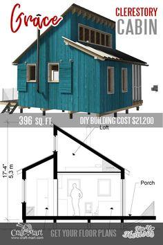 tiny house plans with loft Tiny House Loft, Tiny House Trailer, Tiny House Design, Tiny House On Wheels, Tiny House Kits, Micro House Plans, A Frame House Plans, House Floor Plans, The Plan