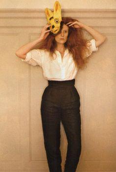 Grace Coddington 1984 by Sheila Metzner.