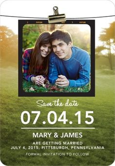 Sweet wedding 'save the date' magnet.