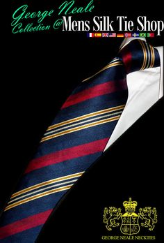 Regimental ties. Blue neckties. Exclusives.