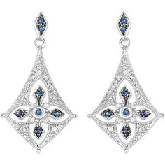 Sterling Silver and Blue Sapphire Earrings. To find a retailer near you, visit http://www.stuller.com/locateajeweler/