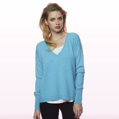 Girlfriend  Sweater Turquoise Winter Collection, Girlfriends, Cashmere, V Neck, Turquoise, Sweaters, Shopping, Tops, Women
