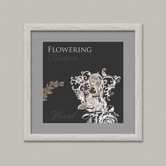 Floreus X  Decorazione parete stampabile  di OopsyPrintableIdeas