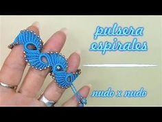 Macrame Bracelet Patterns, Macrame Earrings, Crochet Bracelet, Macrame Jewelry, Macrame Bracelets, Diy Jewelry, Crochet Earrings, Macrame Tutorial, Bracelet Tutorial