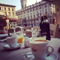 Breakfast in Florence, Italy