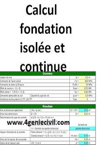 Calcul De Semelle De Fondation Continue Et Semelle De Fondation Isolee Avec Excel Construction Geniecivil Btp Dimensionne Calcul Genie Civil Devis Batiment