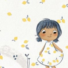 Watercolor Illustration Children, Children's Book Illustration, Little Girl Illustrations, Kawaii Faces, Painting Of Girl, Cute Cartoon Wallpapers, Cartoon Styles, Cute Art, Illustrators