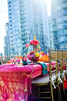downtown rooftop moroccan mehndi decor