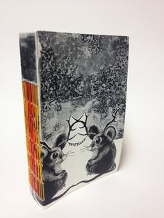 Handmade Snowshoe Stitch Journal / Sketchbook by mosoart on Etsy, $25.00
