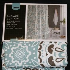 Blue Brown Shower Curtain In Curtains