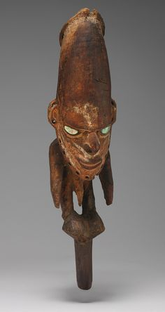Biwat flute stopper, late 19th–early 20th century. Lower Sepik, Papua New Guinea