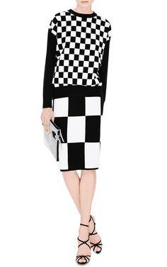 Checkerboard Knit Sweater by Derek Lam 10 Crosby - Moda Operandi