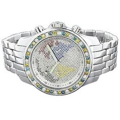 Luxurman Watches Mens Diamond Watch 3.50ct « Clothing Adds for your desire