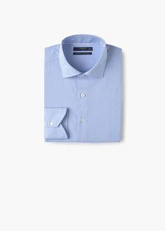 Camisa tailored slim-fit micro pata de gallo   MANGO MAN
