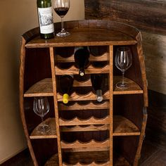 Half a barrel Wine Racks