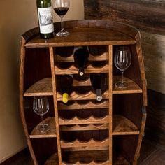 Half a barrel Wine Racks