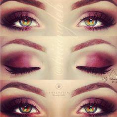 Beautiful eye makeup for hazel eyes.