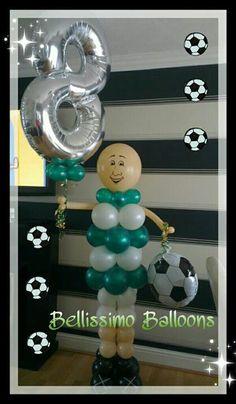 Footballer balloon man x www.bellissimoballoons.co.uk